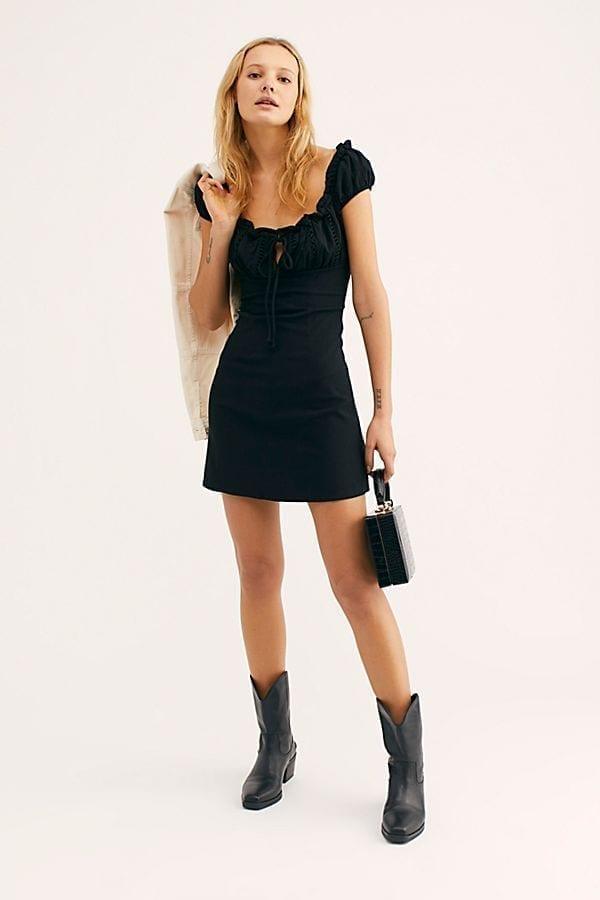Free People Your Type Black Mini Dress