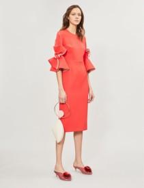 ROKSANDA Lavete Bow-Detail Cady Orange Dress