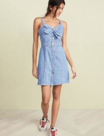 7 FOR ALL MANKIND Double Tie Blue Dress