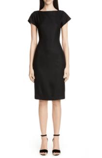 ADAM LIPPES Back Pleat Black Dress