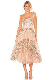 BRONX AND BANCO Mademoiselle Pink / Gold Dress