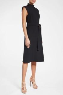 BURBERRY Wool Silk Black Dress