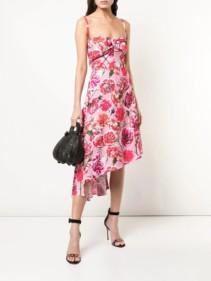 CARMEN MARCH Pink Floral Printed Dress