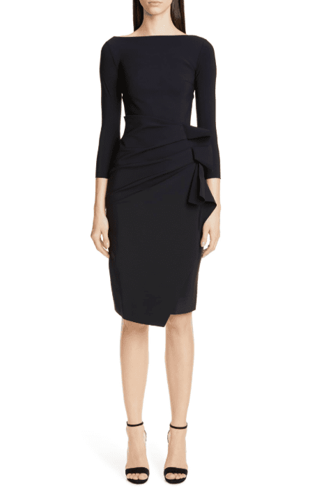 CHIARA BONI LA PETITE ROBE Zelma Cocktail Black Dress