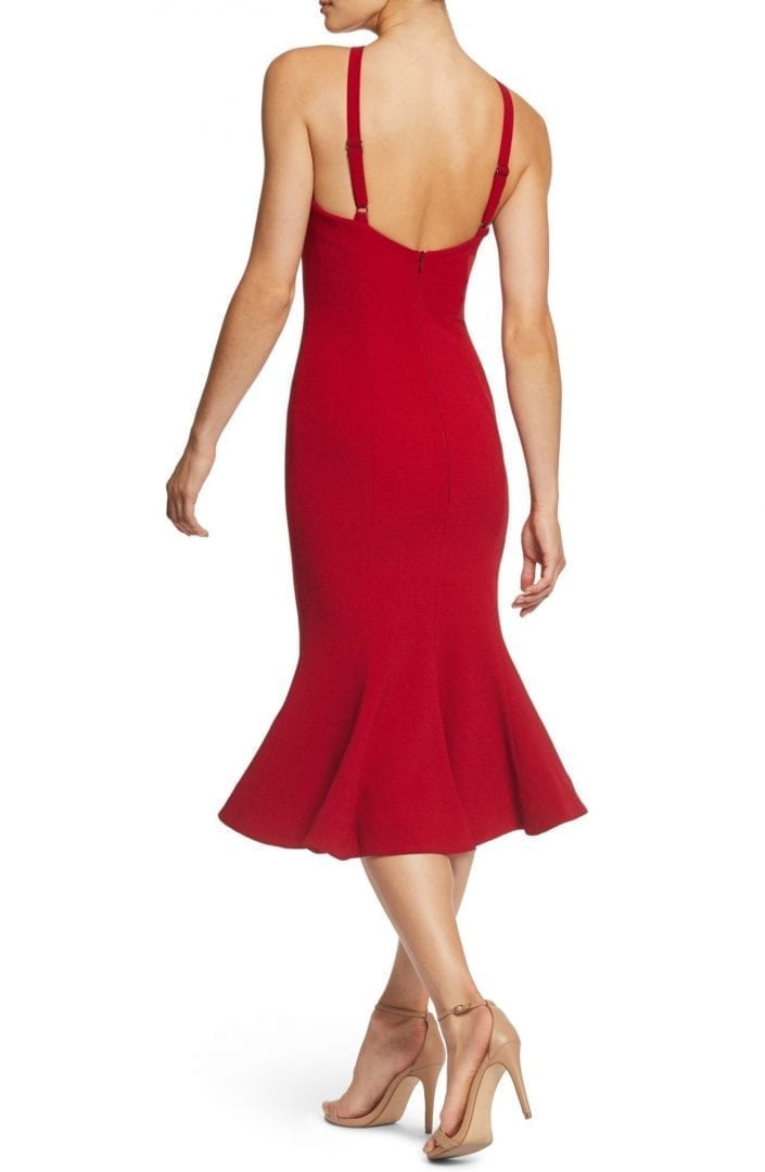 DRESS THE POPULATION Tessa Crepe Mermaid Red Dress
