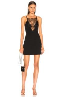 DION LEE Stencil Lace Mini Black Dress