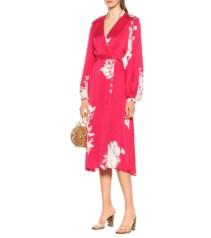 EQUIPMENT Andrese Silk-blend Red Dress