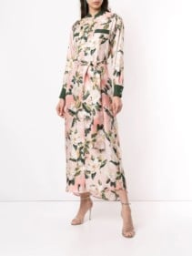 F.R.S FOR RESTLESS SLEEPERS Shirt Pink Floral Printed Dress
