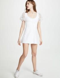 FOR LOVE & LEMONS Felix Mini White Dress
