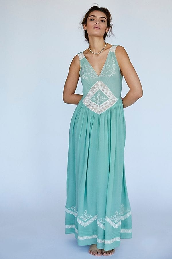 FREE PEOPLE Amalfi Teal Dress