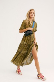 FREE PEOPLE Rare Feelings Maxi Green Dress