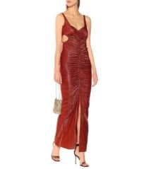GALVAN Sahara Metallic Lamé Rust Dress