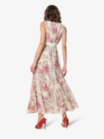 GIAMBATTISTA VALLI Silk Pink / Floral Printed Dress
