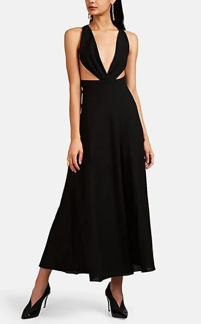 GIVENCHY Crepe Plunging-Neckline Gown