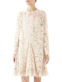 GUCCI Lace Flare Hem Almond Dress