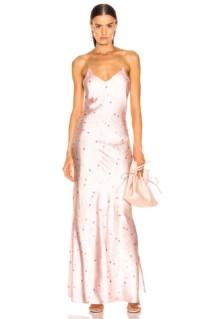 GANNI Blakely Silk Pink Dress