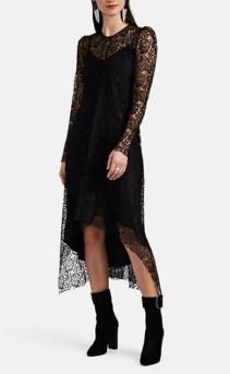 HIRAETH Estella Lace Black Midi-Dress