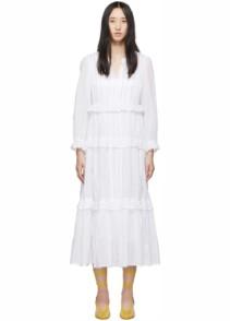 ISABEL MARANT ETOILE Aboni White Dress