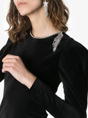 ISABEL MARANT Ziane Diamanté Detail Mini Black Dress