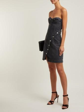 JEAN ATELIER Claudia Buttoned Denim Grey Dress