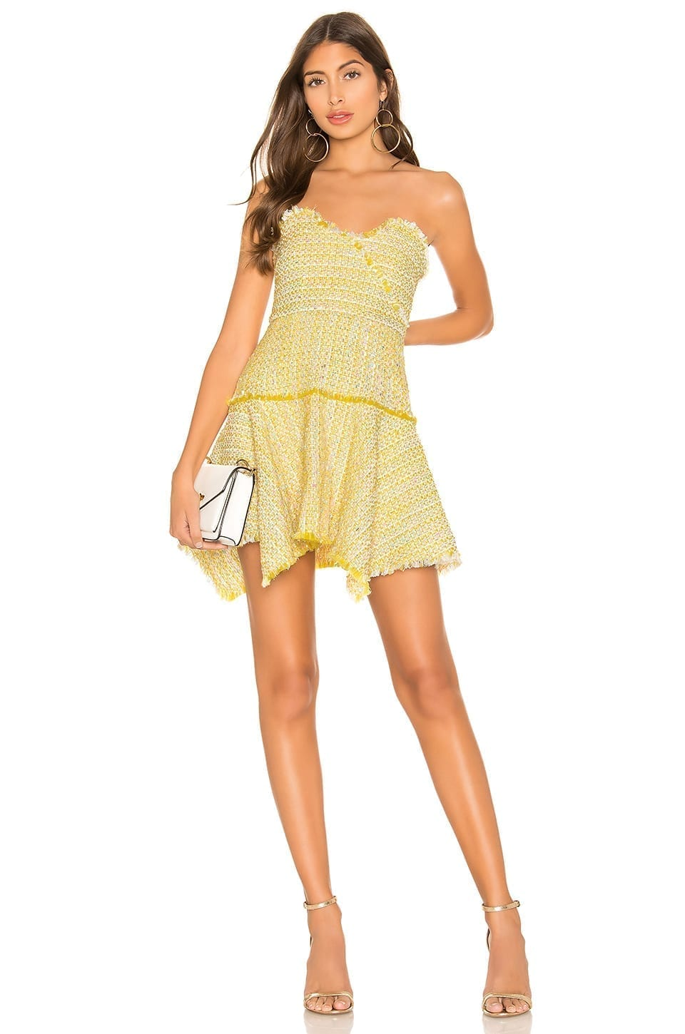LOVERS + FRIENDS Abby Mini Sun Yellow Dress