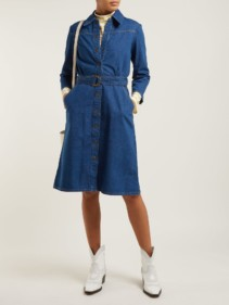 M.I.H JEANS Aria Denim Shirt Blue Dress