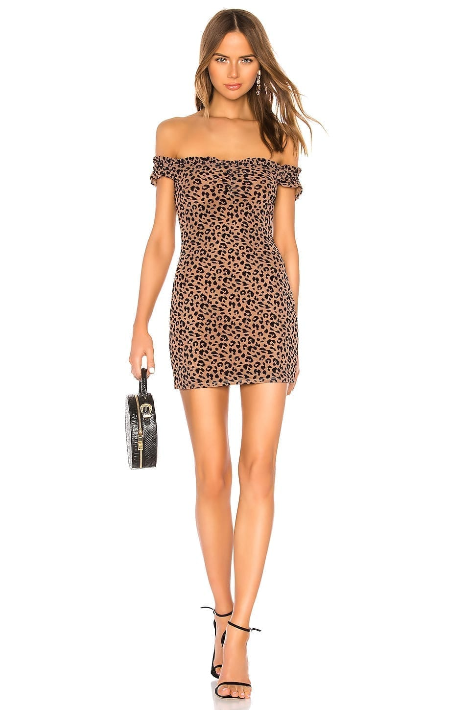 MAJORELLE Darcy Mini Brown Dress