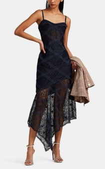 MANNING CARTELL Parlour Games Sheer Lace Navy Dress