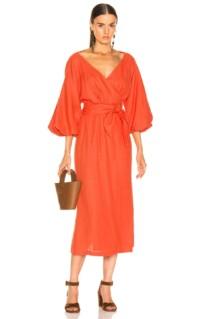 MARA HOFFMAN Francesca Orange Dress