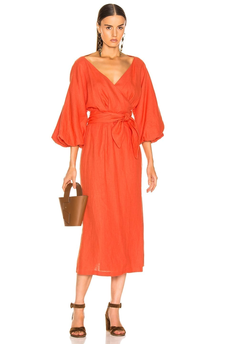 MARA HOFFMAN Francesca Orange Dress