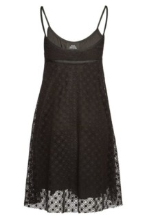 MARC JACOBS Cotton Embroidered Black Dress