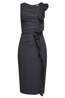 MAX MARA Cleo Ruffles Sleeveless Black Dress