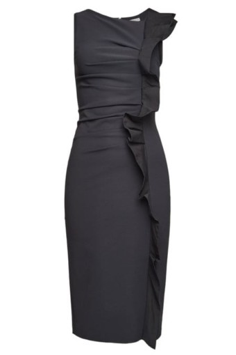 MAX MARA Cleo Ruffles Sleeveless Black Dress