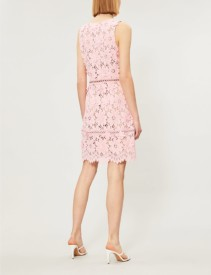 MICHAEL MICHAEL KORS Floral Lace Carnation Pink Dress