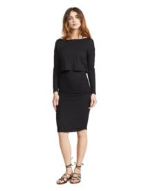 MONROW Baby Thermal Double Layer Black Dress