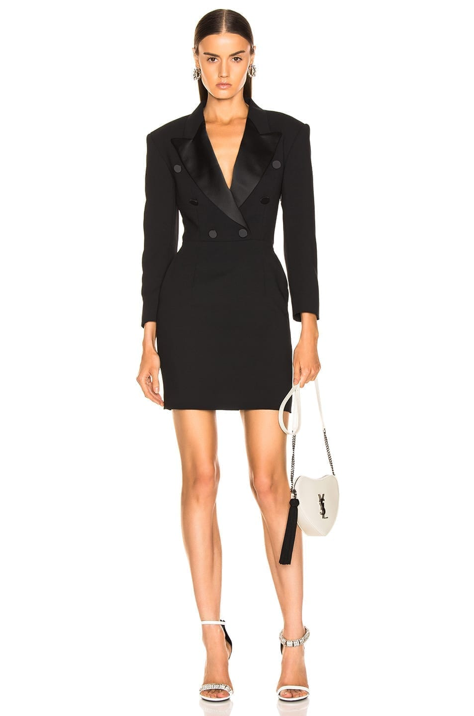MSGM Enverse Satin Black Dress