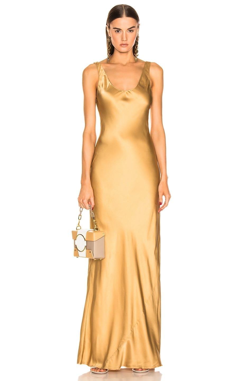 NILI LOTAN Bazile Yellow Gown
