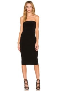 NORMA KAMALI Strapless Black Dress