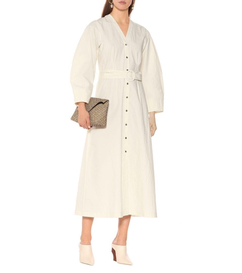 NANUSHKA Femme Cotton Off-White Dress