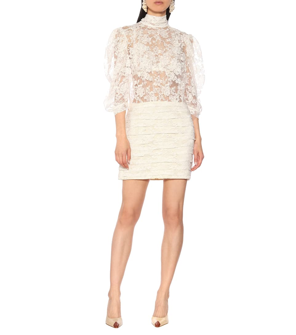 MAGDA BUTRYM Labutes Lace Mini White Dress