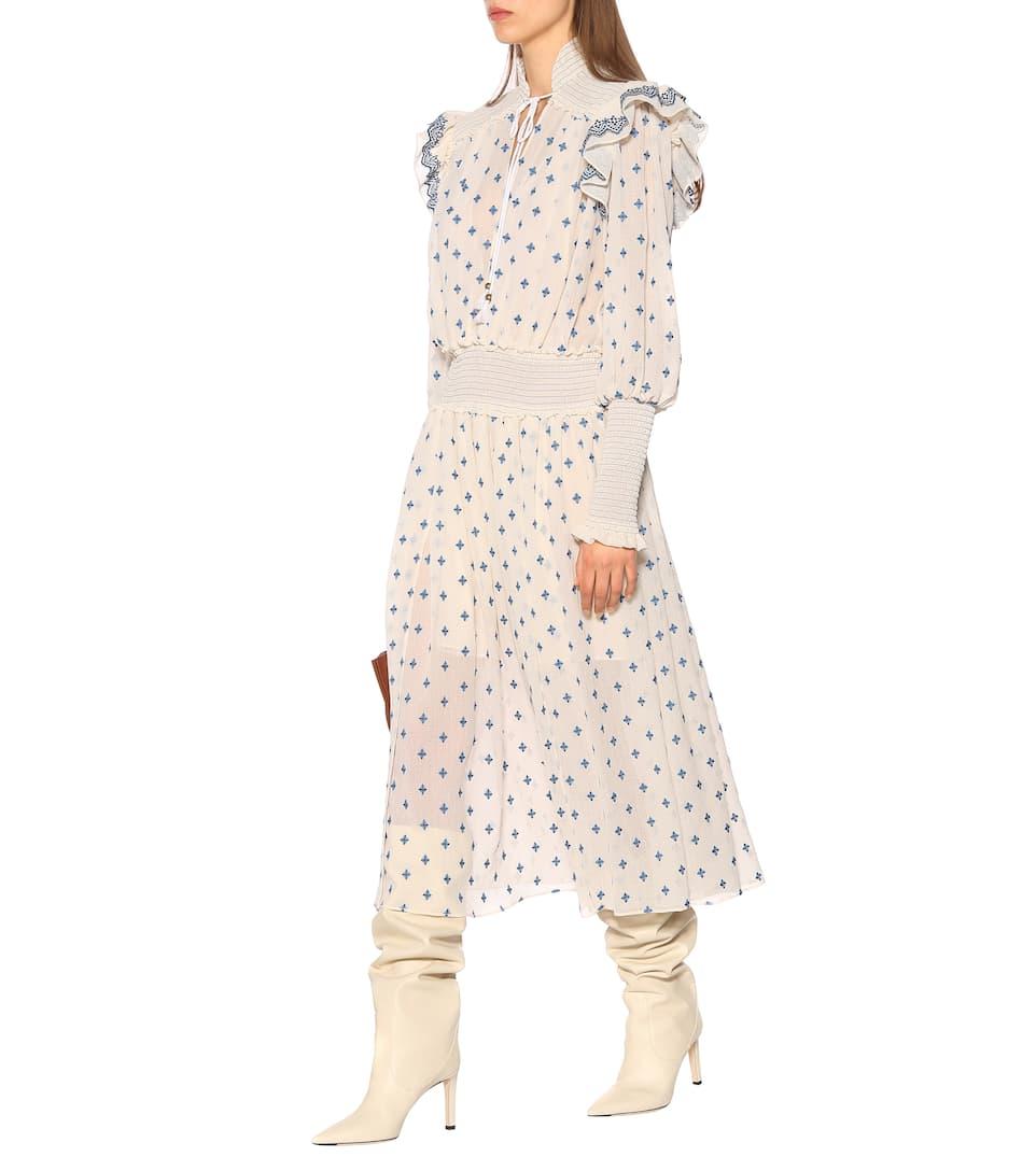 PHILOSOPHY DI LORENZO SERAFINI Embroidered Ivory Dress