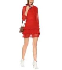 PHILOSOPHY DI LORENZO SERAFINI Lace Mini Red Dress