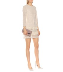 PHILOSOPHY DI LORENZO SERAFINI Lace Mini White Dress