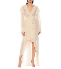 PHILOSOPHY DI LORENZO SERAFINI Ruffled Chiffon Ivory Dress