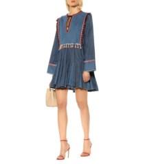 PHILOSOPHY DI LORENZO SERAFINI Tasseled Denim Mini Dress