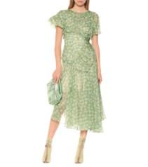 PREEN BY THORNTON BREGAZZI Etta Chiffon Midi Green / Floral Printed Dress