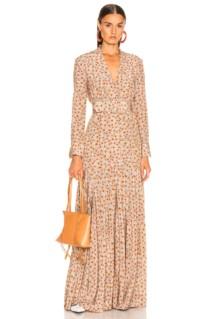 REBECCA DE RAVENEL Bell Sleeve Patio Dress