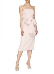 REBECCA VALLANCE 'Harlow' Convertible Bow Tie Strapless Pink Dress