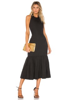REBECCA VALLANCE Holiday Halter Black Dress