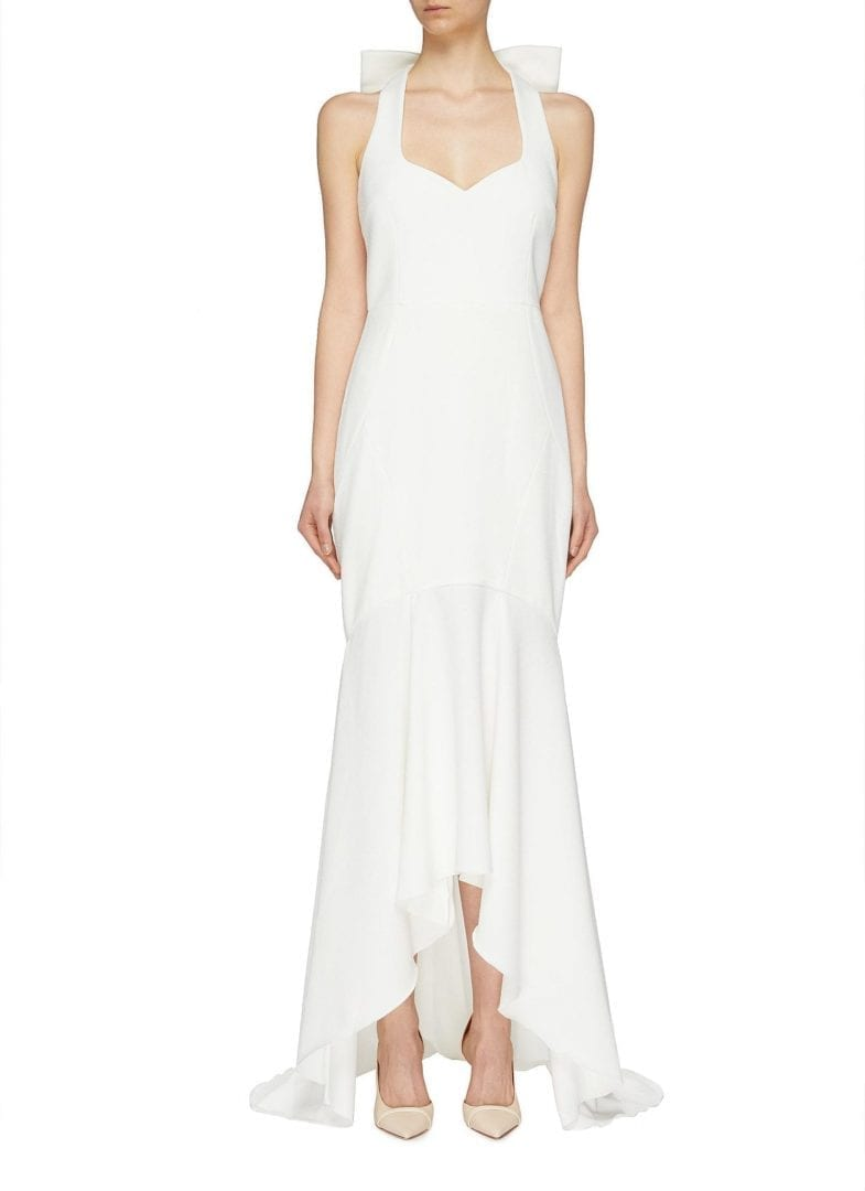 REBECCA VALLANCE 'Love' Bow Back High-Low White Gown